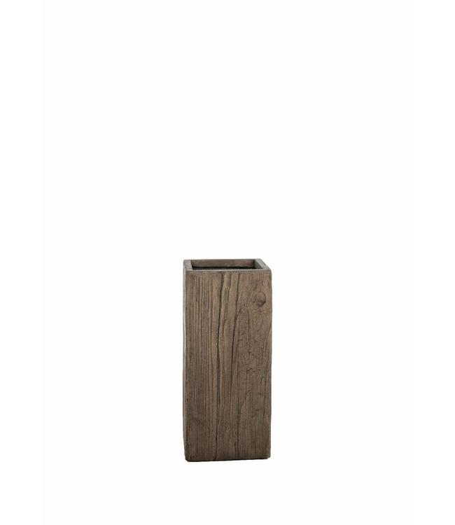 """Prachtige plantenbak 50 cm in houtskleur van de serie """"Galant"""""""