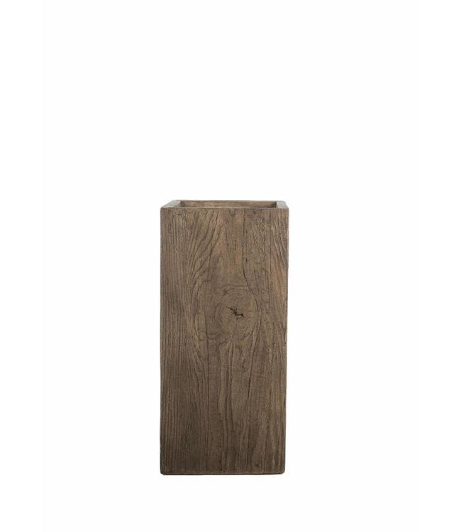 """Prachtige plantenbak 60 cm in houtskleur van de serie """"Galant"""""""