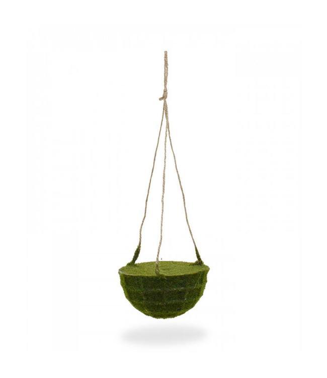 Kunstmos hangmand 15 cm met touw