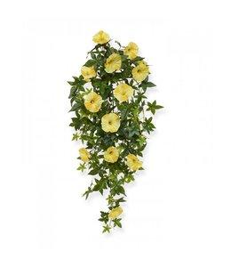 Petunia kunsthangplant 70 cm geel