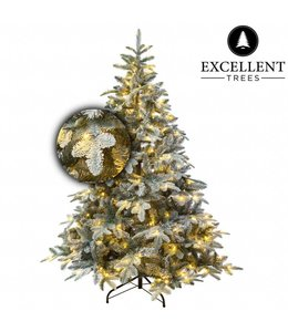 Kunstkerstboom besneeuwde Otta 180 met LED verlichting