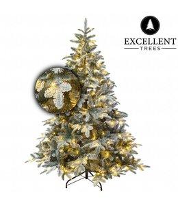 Kunstkerstboom besneeuwde Otta 210 cm met LED verlichting