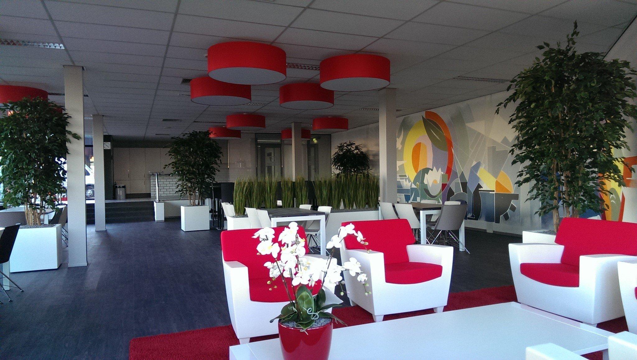 Kunstplanten.nl project Pol Heteren kantine beplanting