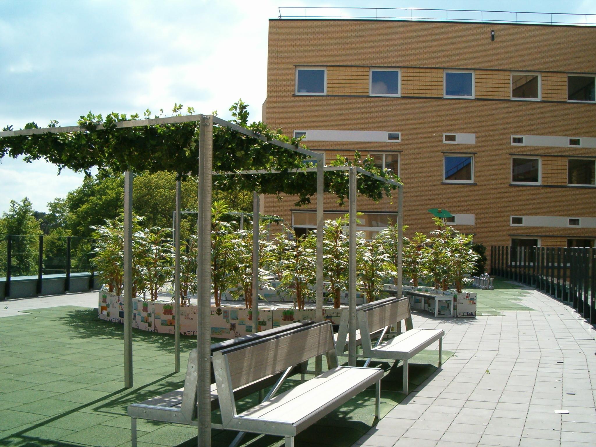 Kunstplanten.nl project Dakterras Radboud Ziekenhuis Nijmegen