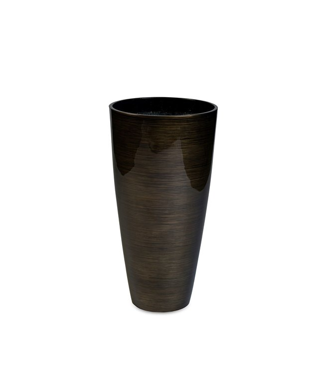 Vita Vase  Stripes  large Bronze 120 x 57 cm