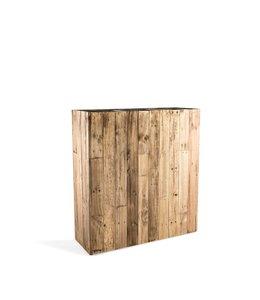 Marrone Planter Dark Flame Wood 93x33x100