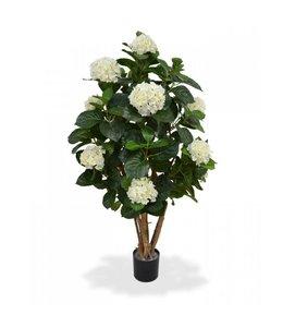 Hortensia op stam 110 cm crème