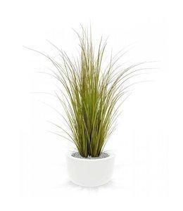 Kunst grasplant 100 cm bruin-groen