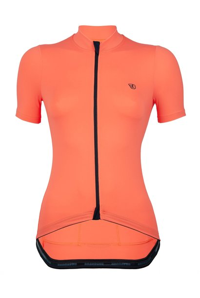 WOMEN'S ROULEUR JERSEY | COLOMBIA CORAL