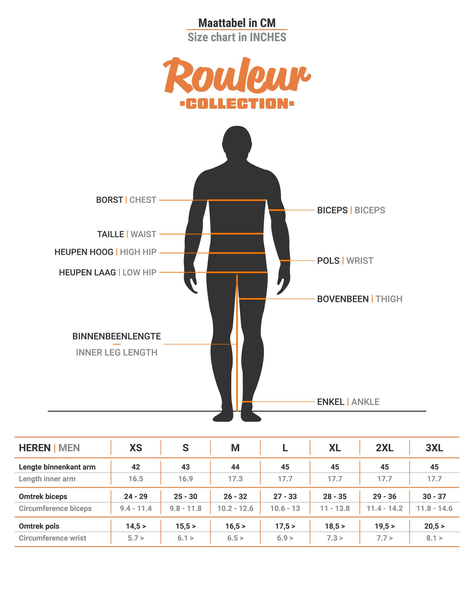 Heren Rouleur Armstukken | Inca Oranje-3