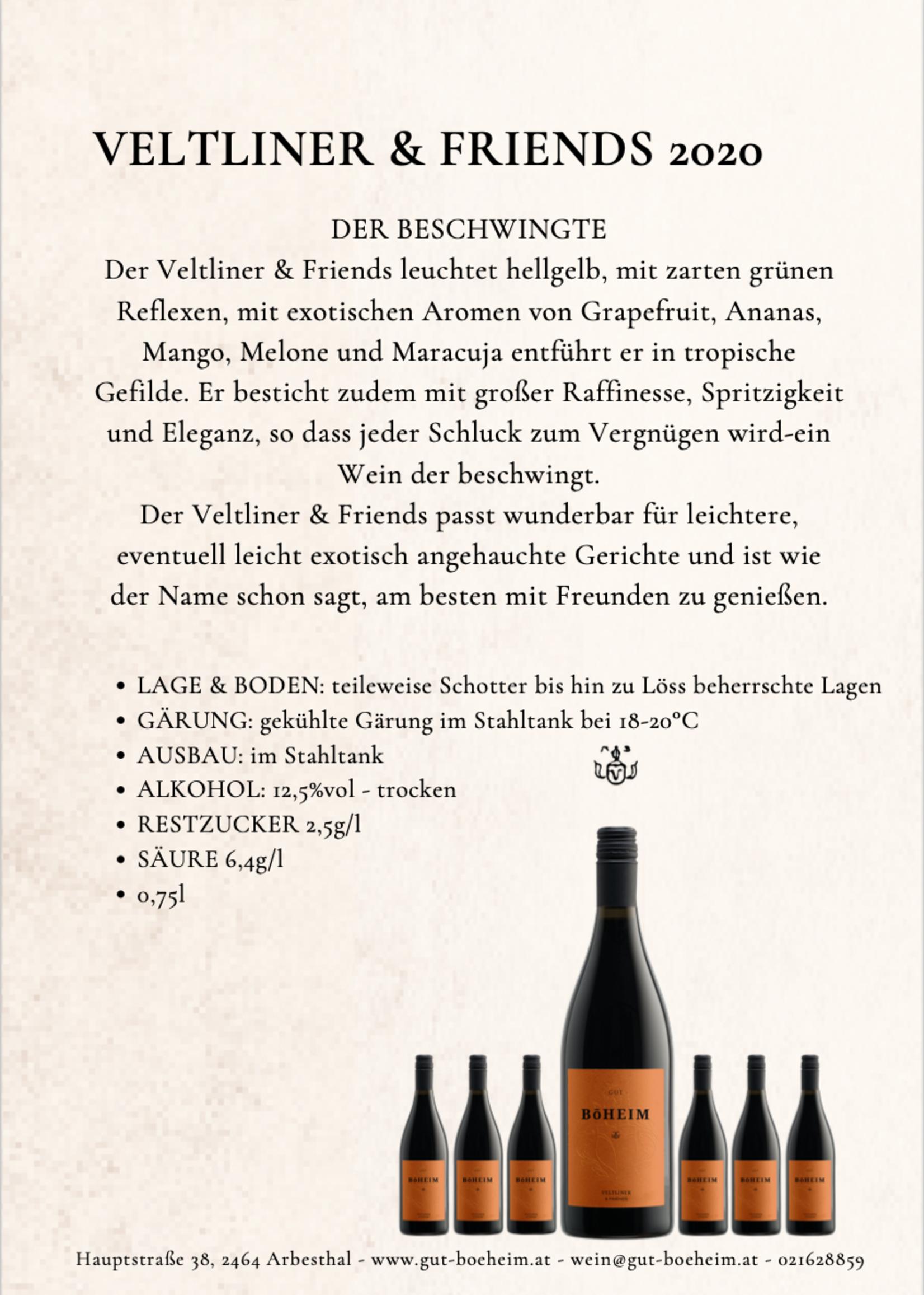 Veltliner & Friends  2020 0,75 l vom Weingut Böheim