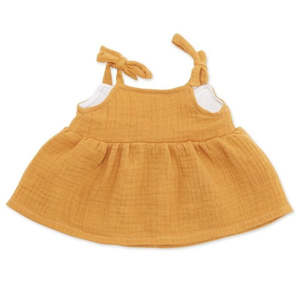 Strapless jurk curry voor Knuffelpop