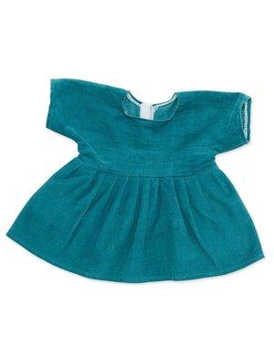 Corduroy jurk petrol voor Knuffelpop