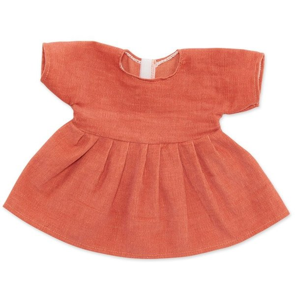 Corduroy jurk peach Voor Knuffelpop