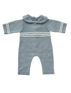 Babypakje blauw gebreid 35cm