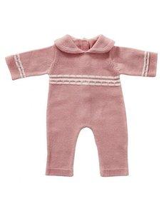 Babypakje roze gebreid 35cm