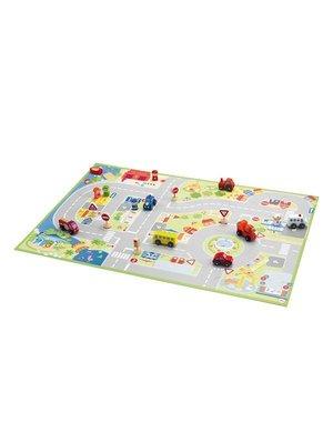 Puzzel Stad met Miniaturen