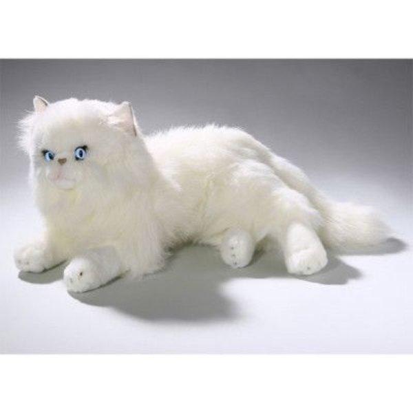 Liggende witte Perzische Kat 30 cm