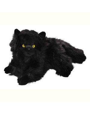 Liggende zwarte Perzische kat 30cm