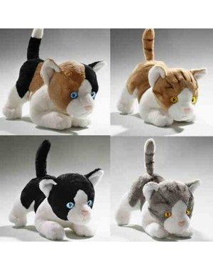 4X Kortharige katten Ass. 18 cm