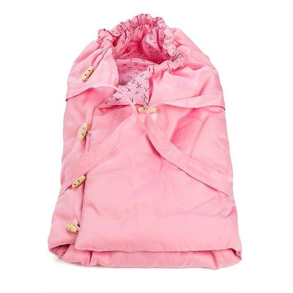 Poppendraagtas voor poppenwagen roze