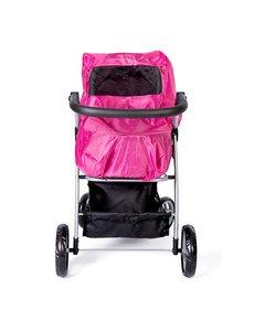 Regenhoes voor poppenwagen roze