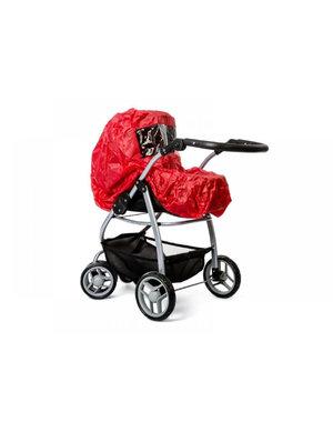 Regenhoes voor poppenwagen rood