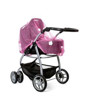 Insectennet voor Poppenwagen roze