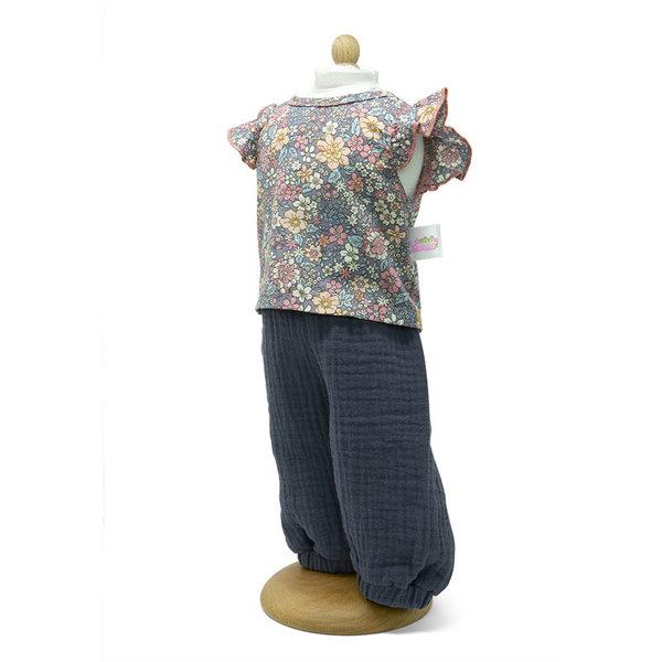 Broek met gebloemde blouse 29-32cm