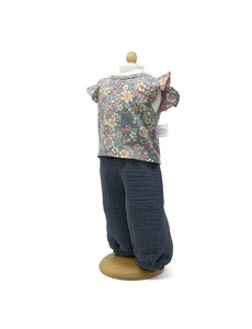 Broek met gebloemde blouse 33-37cm