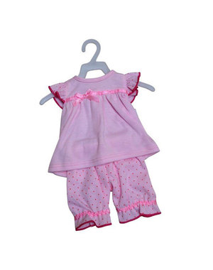 Jurk met broek roze 29-32 cm