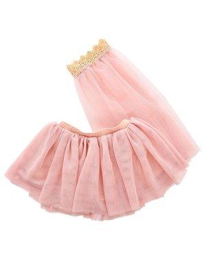 Tule rok met sluier roze 3-5 jaar