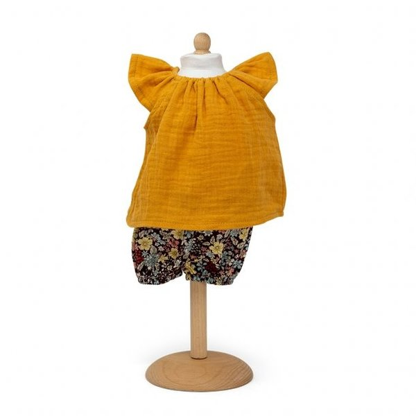 Tuniek met korte broek oker geel 29-32cm