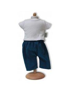 Broek met T-shirt blauw/wit 33-37cm