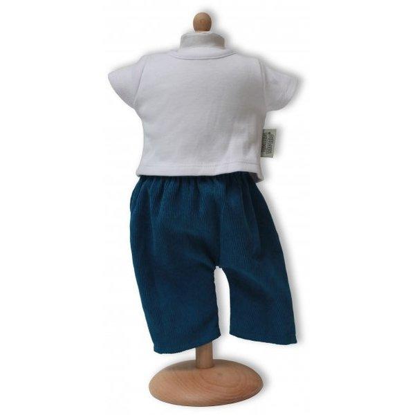 Broek met T-shirt blauw/wit 42-46cm