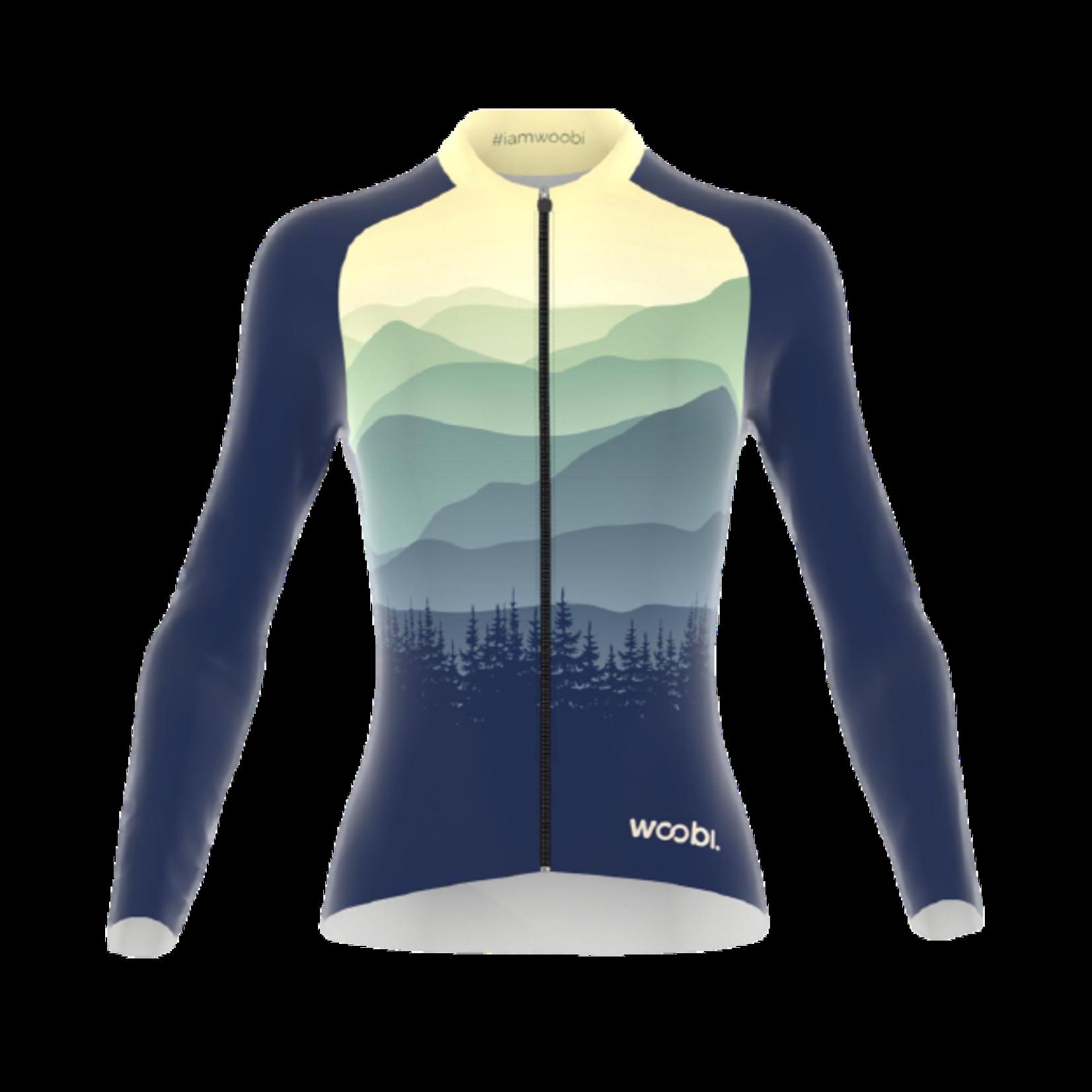 WOOBI-cycling MOUNTAINS jersey lange mouw