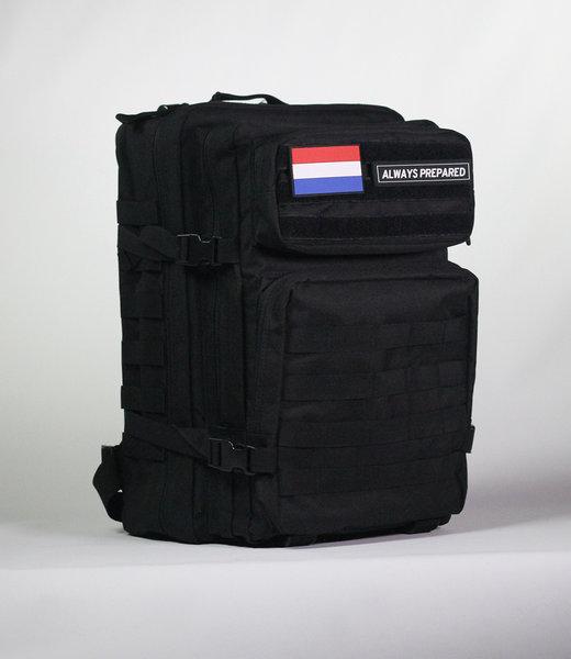 Always Prepared Black Backpack 45L