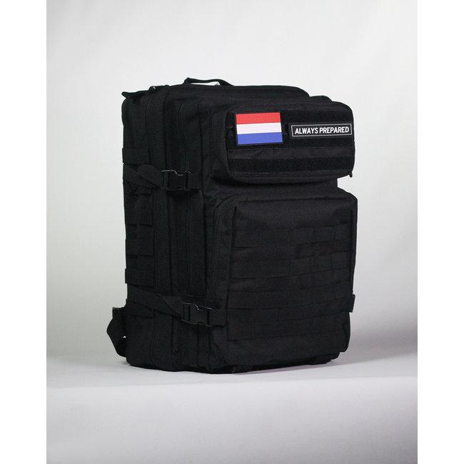 Always Prepared Always Prepared Black Backpack 45L