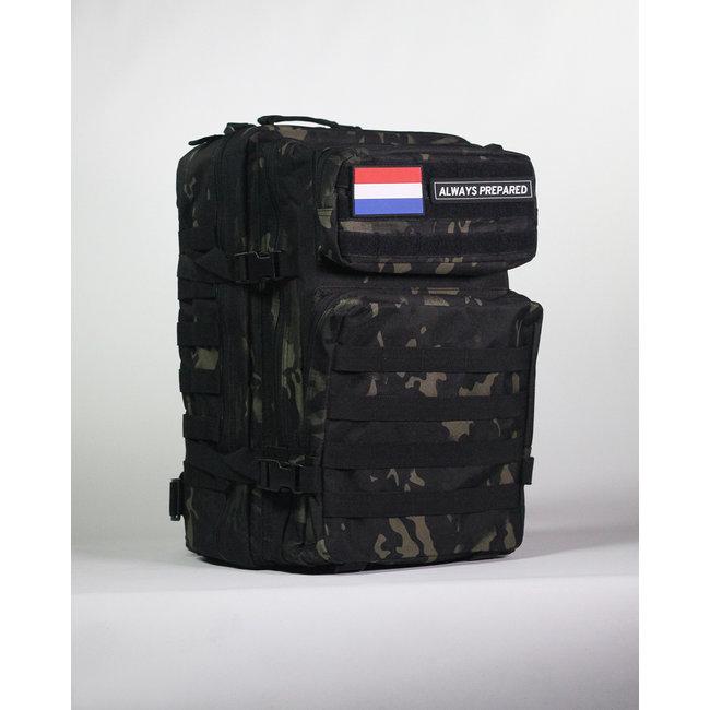 Always Prepared Always Prepared Black Camo Backpack 45L
