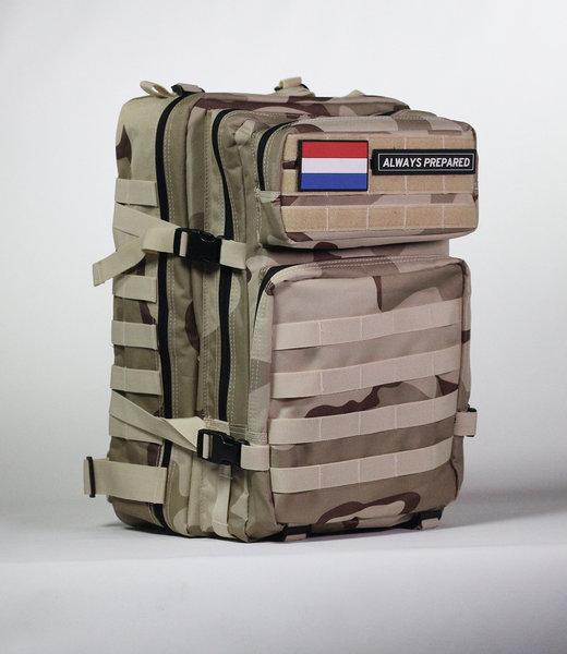 Always Prepared Desert Camo Backpack 45L