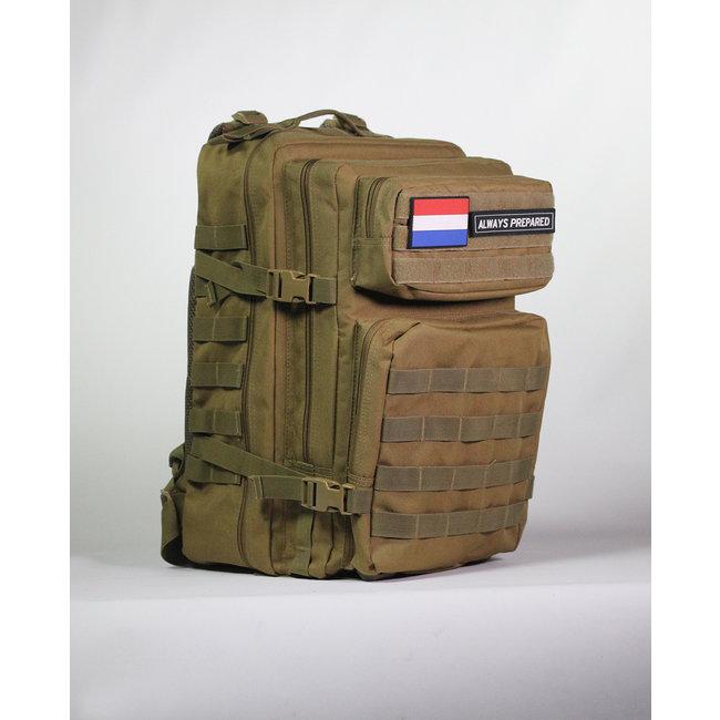 Always Prepared Always Prepared Khaki Backpack 45L