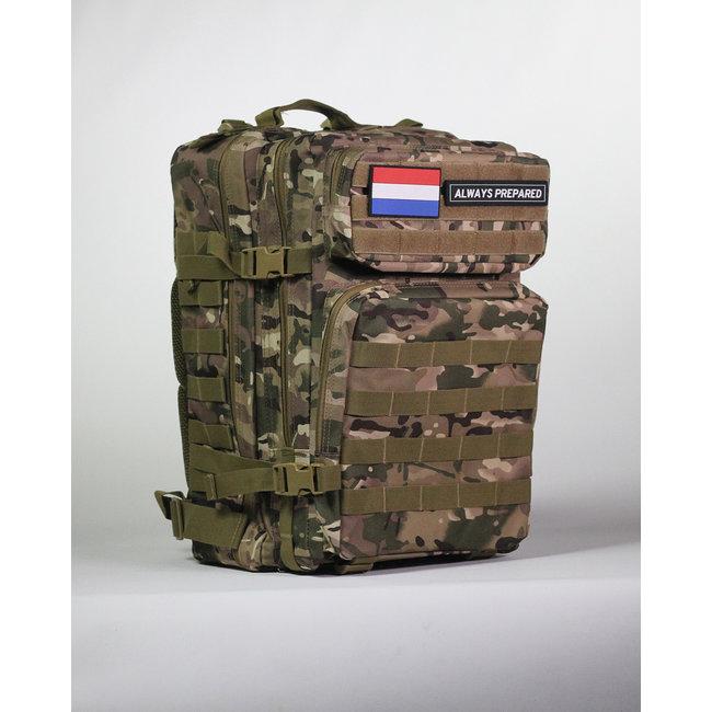 Always Prepared Multi Camo Backpack 45L