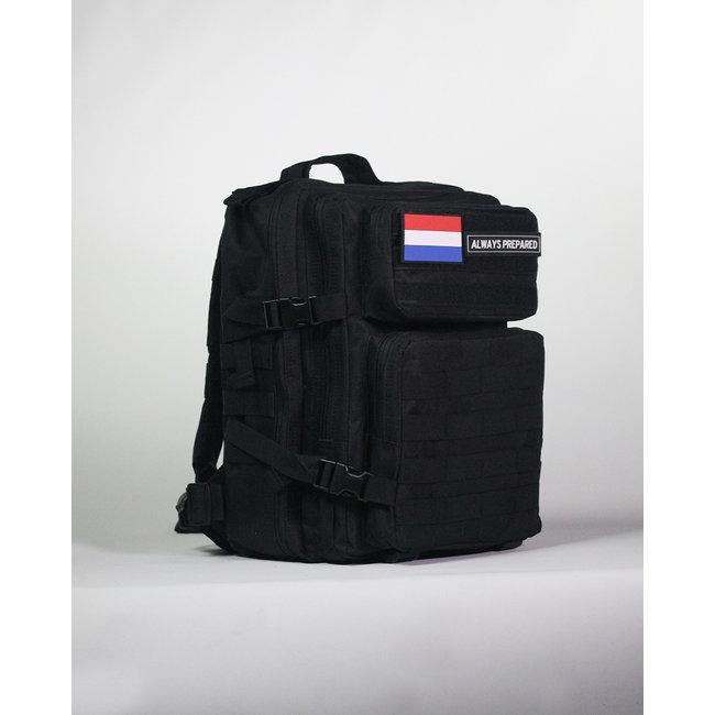 Always Prepared Black Backpack 25L