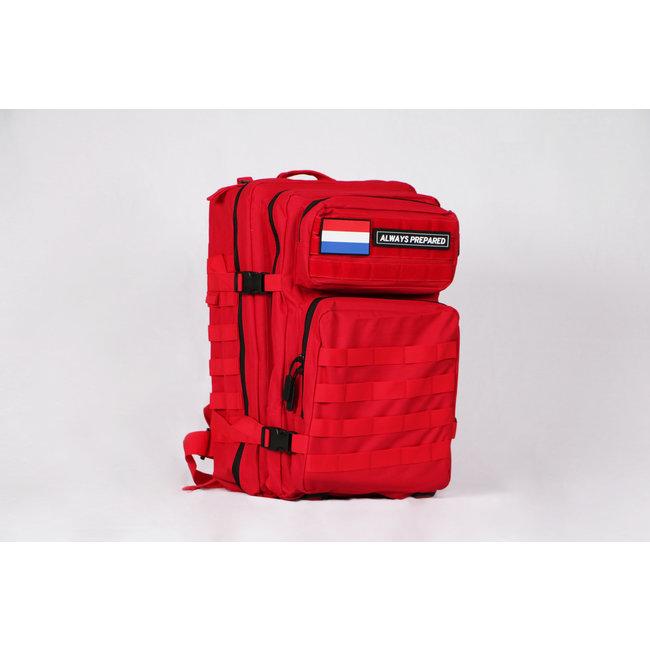 Always Prepared Red Backpack 45L