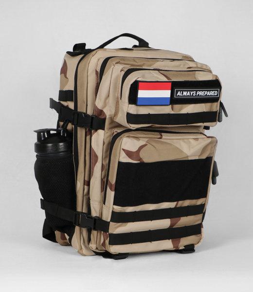 Always Prepared 2.0 Desert Camo Backpack 45L