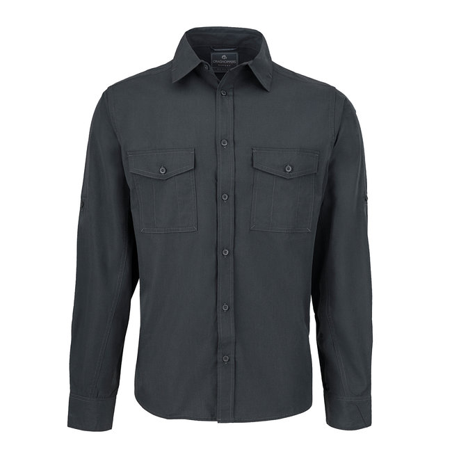 Craghoppers Long Sleeved Shirt Carbon Grey