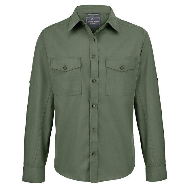 Craghoppers Long Sleeved Shirt Pebble Cedar