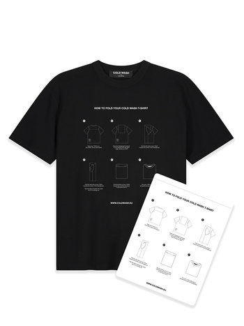 Cold Wash Foldingboard T-shirt Black