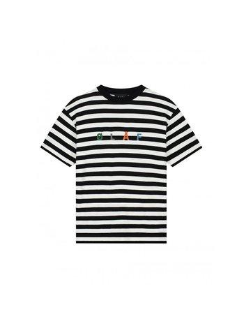 OLAF HUSSEIN Stripe Sans Tee