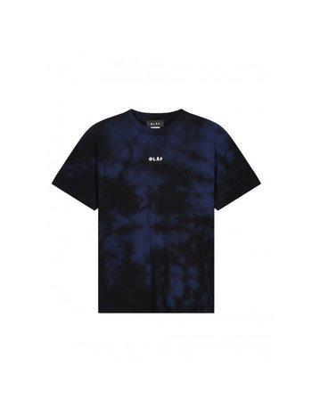 OLAF HUSSEIN Tie Dye Block Tee Black Blue